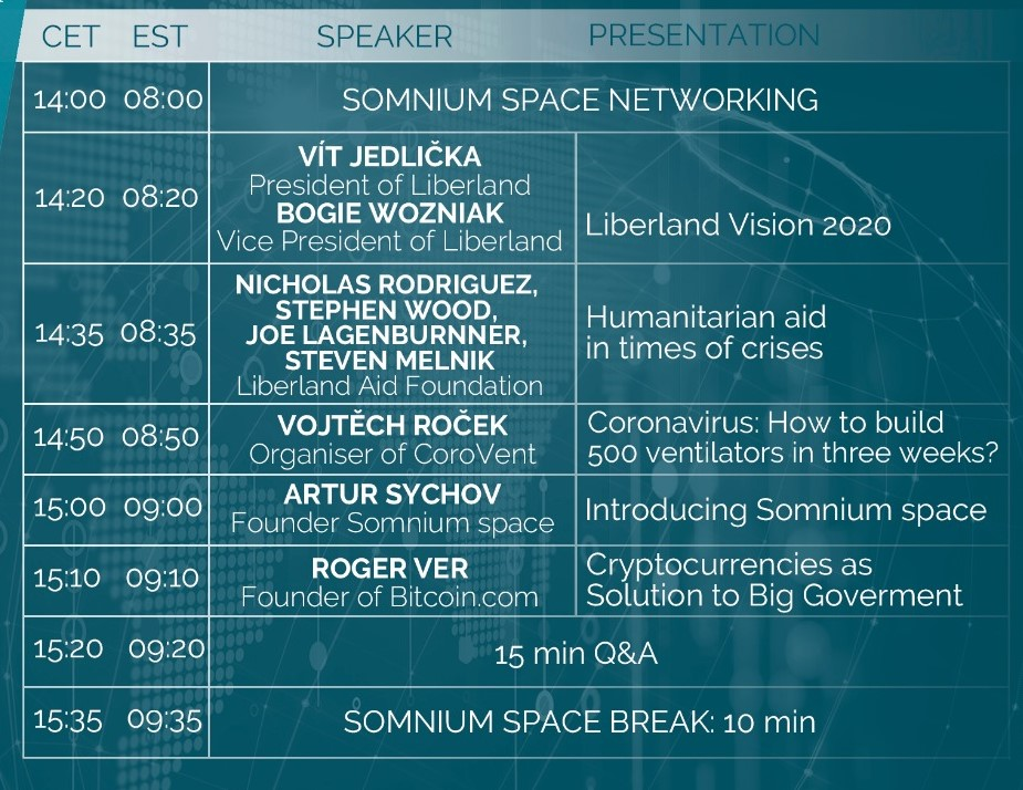 5th Anniversary Of Free Republic of Liberland in VR Conference Schedule 1 president of Liberland, Vít Jedlička bitcoin btc blockchain somnium space crypto