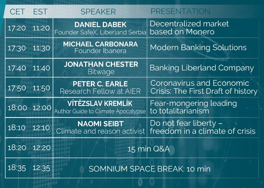 5th Anniversary Of Free Republic of Liberland in VR Conference Schedule 2 president of Liberland, Vít Jedlička bitcoin btc blockchain somnium space crypto