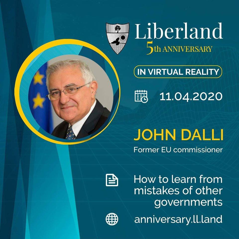 5th Anniversary Of Free Republic of Liberland in VR John Dalli bitcoin btc blockchain somnium space crypto