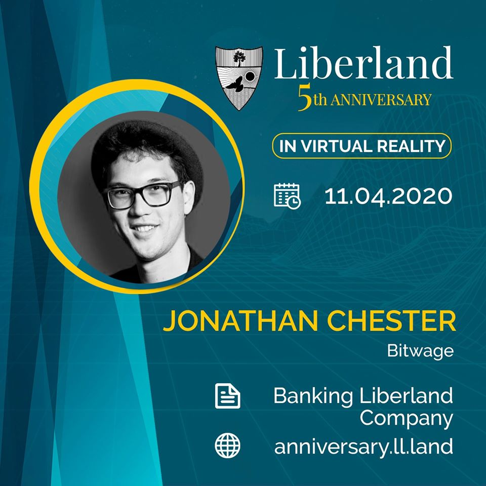 5th Anniversary Of Free Republic of Liberland in VR Jonathan Chester, Co-Founder and CEO of Bitwage bitcoin btc blockchain somnium space crypto