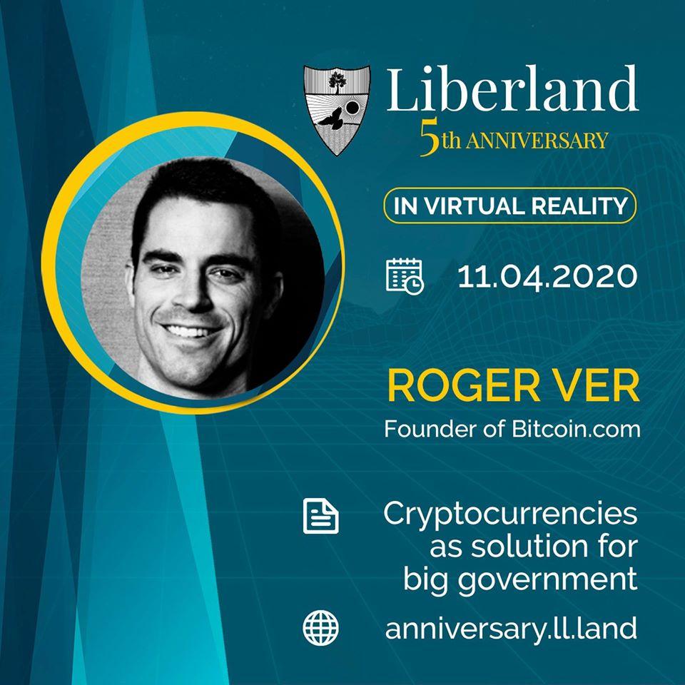 5th Anniversary Of Free Republic of Liberland in VR Roger Ver bitcoin btc blockchain somnium space crypto