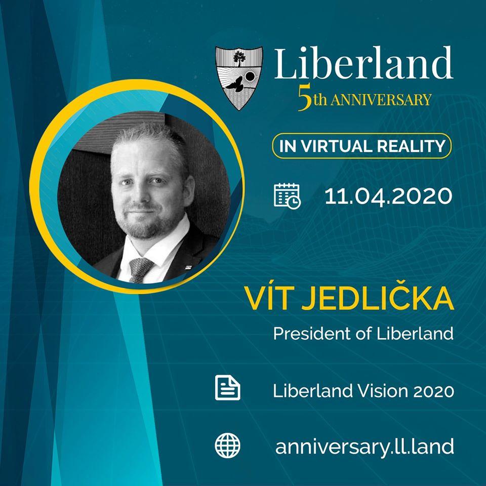 5th Anniversary Of Free Republic of Liberland in VR president of Liberland, Vít Jedlička bitcoin btc blockchain somnium space crypto