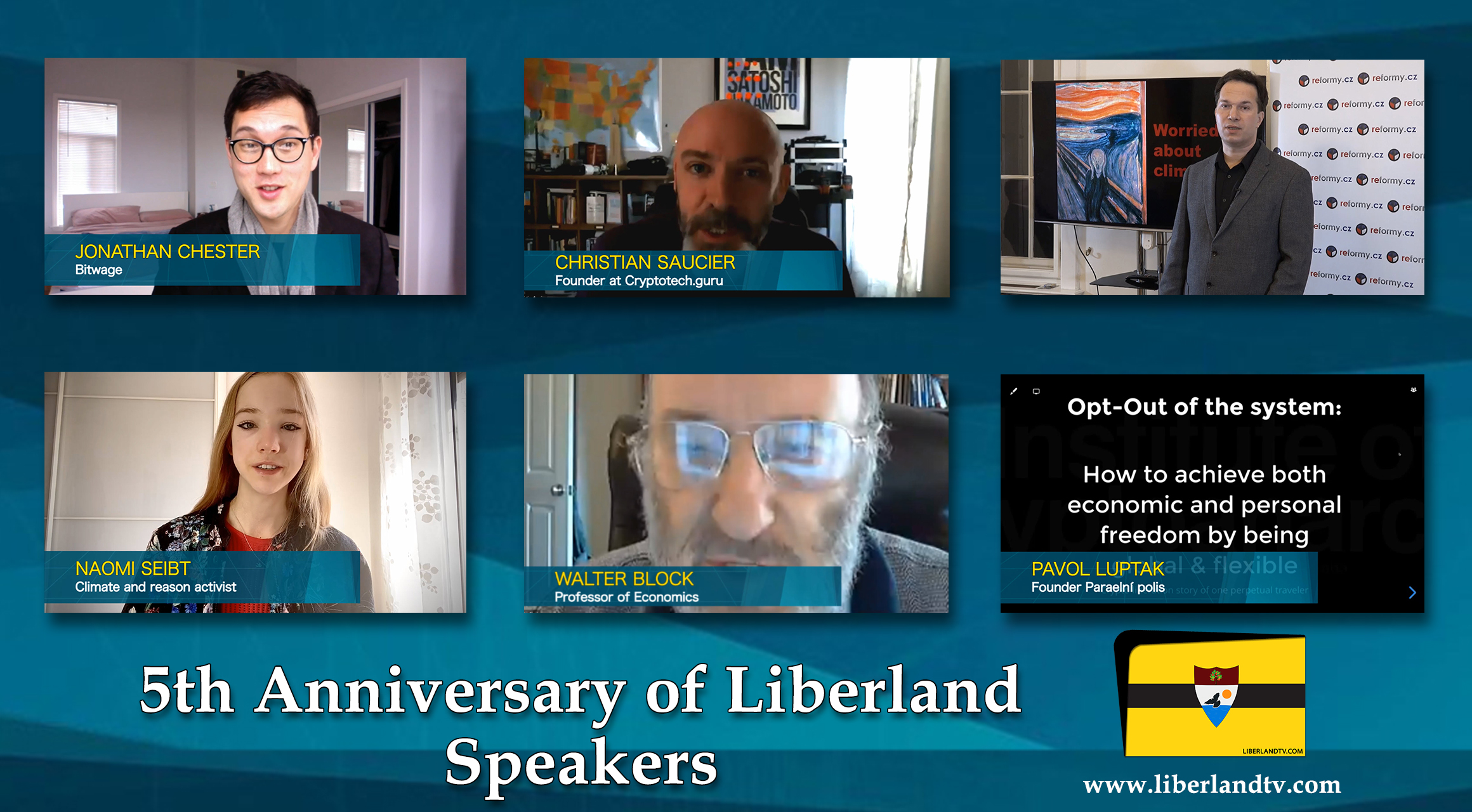 5th Anniversary of Liberland Speakers Free Republic bitcoin blockchain crypto tv