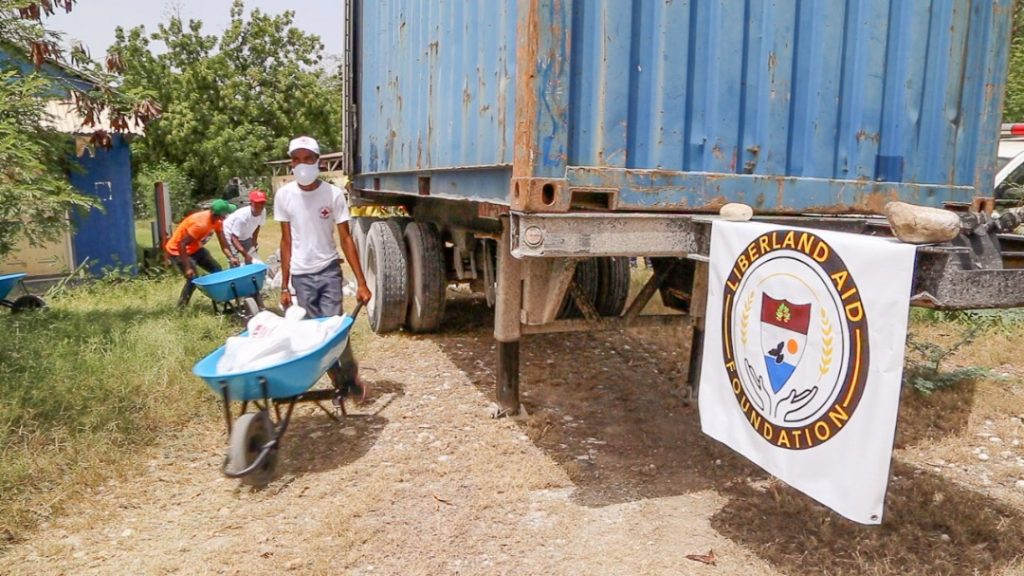 Liberland Aid Foundation LAF delivers food to Haiti donate help 3
